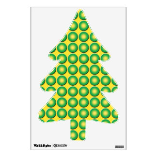 Bumpy yellow green texture room decal