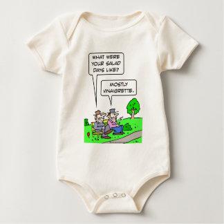 Bum's salad days were mostly vinaigrette. baby bodysuit