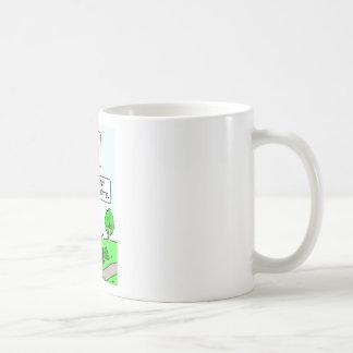 Bum's salad days were mostly vinaigrette. coffee mug