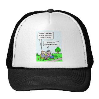 Bum's salad days were mostly vinaigrette. hat