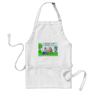 bums your call is very important to us adult apron