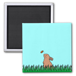 BUN & BUTTERFLY 2 INCH SQUARE MAGNET