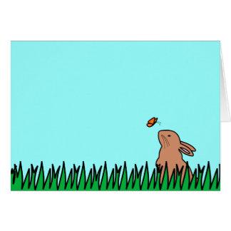 BUN & BUTTERFLY GREETING CARD