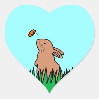 BUN & BUTTERFLY HEART STICKER