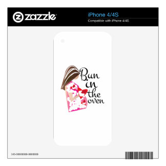 Bun In Oven Decal For The iPhone 4