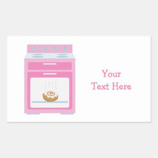 Bun In Oven (pink customizable) Rectangular Sticker