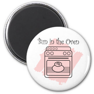 Bun in the Oven 2 Inch Round Magnet