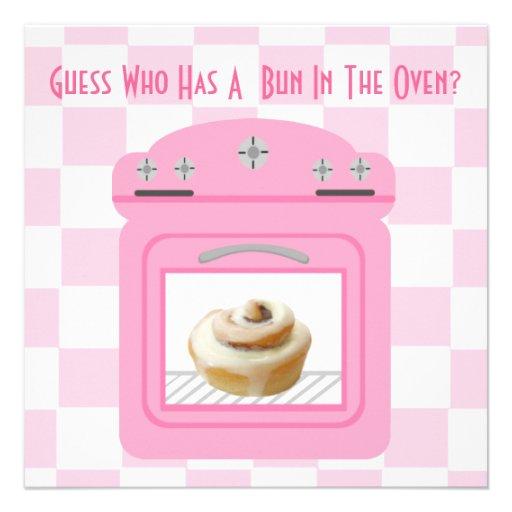 Bun In The Oven Invitation as amazing invitation layout