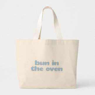 Bun In the Oven - blue Large Tote Bag