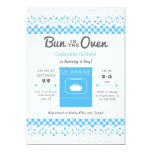 Bun In The Oven Boy Baby Shower Invitation