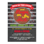 Bun in the Oven burgers on the grill Baby Shower 5x7 Paper Invitation Card