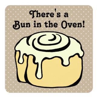 Bun in the Oven Cinnamon Roll Baby Shower Invite