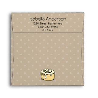 Bun in the Oven Cinnamon Roll Baby Shower Invite Envelope