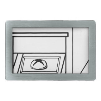 bun in the oven, funny baby in mother pregnant mom rectangular belt buckle