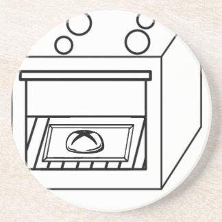 bun in the oven, funny baby in mother pregnant mom sandstone coaster