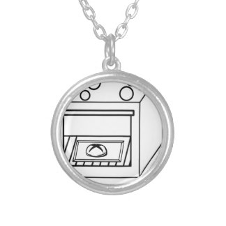 bun in the oven, funny baby in mother pregnant mom silver plated necklace