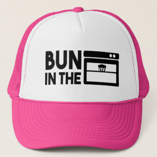 Bun in the oven funny pregnant hat