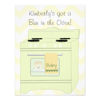 Bun in the Oven Gender Neutral Personalized Announcement
