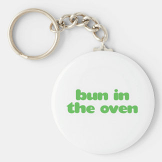 Bun In the Oven - green Keychain
