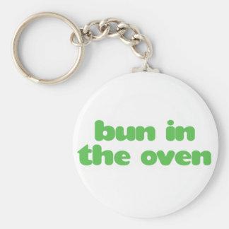 Bun In the Oven - green Keychain