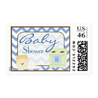 Bun in the Oven in Blues Postage