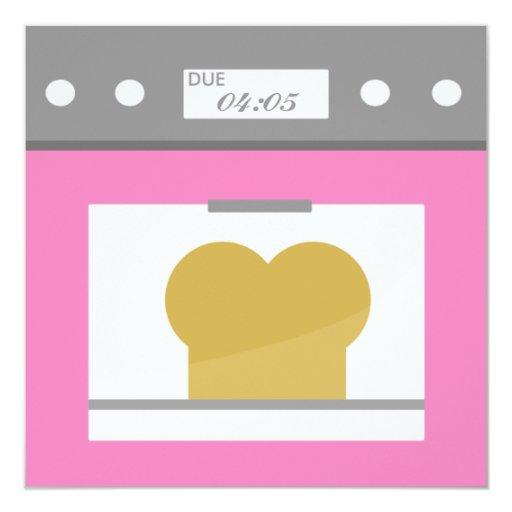 Bun in the Oven 5.25x5.25 Square Paper Invitation Card