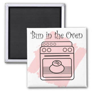Bun in the Oven 2 Inch Square Magnet