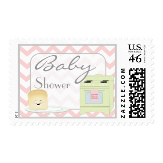 Bun in the Oven Pink Postage