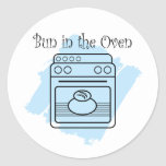 Bun in the Oven Round Stickers