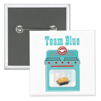 Bun in the Oven Team Blue Baby Shower pins