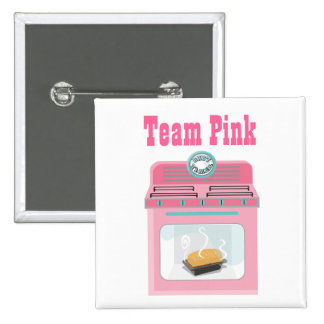 Bun in the Oven Team Pink Baby Shower pins
