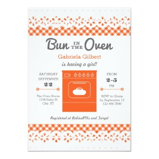 Bun In The Oven Unisex Baby Shower Invitation
