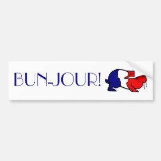 BUN-Jour! Bumper Sticker