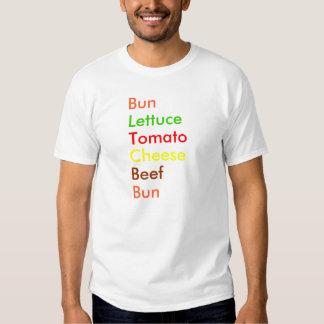 Bun, Lettuce, Tomato, Cheese, Beef, Bun T-Shirt