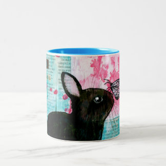 BUN N BUTTERFLY Two-Tone COFFEE MUG