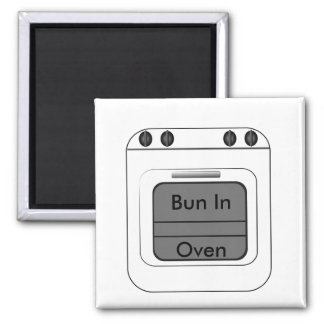 Bun N The Oven 2 Inch Square Magnet
