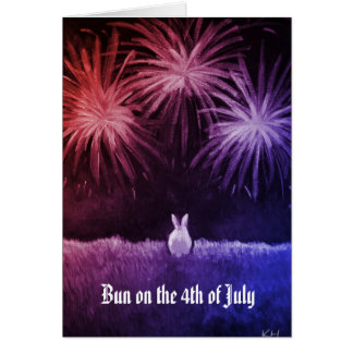 Bun on the 4th of July Greeting Cards