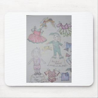 BunBun and Olga Paperdolls Mouse Pad