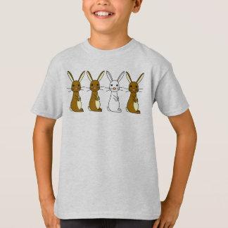 Bunbun - camiseta linda de Childs de los conejos Polera
