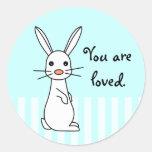 Bunbun - conejo blanco lindo etiqueta