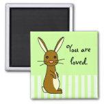 Bunbun - conejo lindo imán para frigorífico
