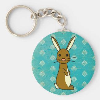 Bunbun - conejo lindo llavero redondo tipo pin