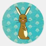 Bunbun - conejo lindo pegatina redonda