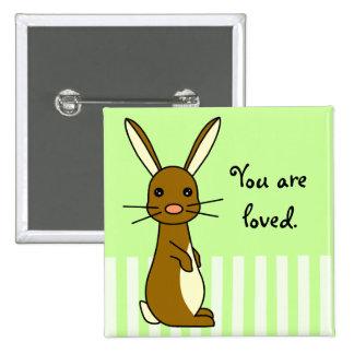Bunbun - conejo lindo pin cuadrado