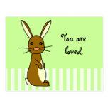 Bunbun - conejo lindo tarjetas postales