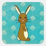 Bunbun - Cute Brown Rabbit Square Sticker