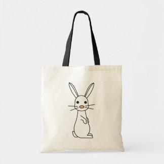 Bunbun - Cute White Rabbit Budget Tote Bag