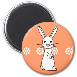 Bunbun - Cute White Rabbit 2 Inch Round Magnet