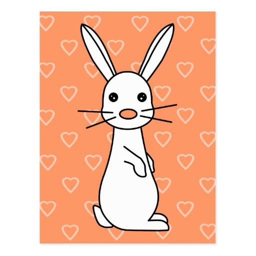 Bunbun - Cute White Rabbit Postcard