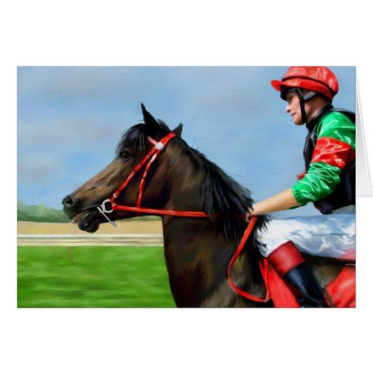 Bunbury Red - Racehorse Art Card